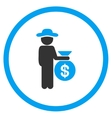 Gentleman Investor Rounded Icon vector image vector image