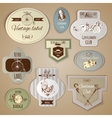 Gentleman Labels Set vector image