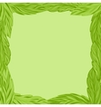 Green frame with tea leaves vector image vector image