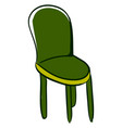 green kitchen chair on white background vector image vector image