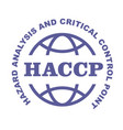 haccp stamp - hazard analysis and critical vector image vector image