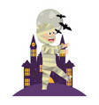 halloween boy cartoon vector image