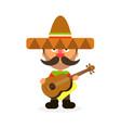 hot mexican in sombrero vector image
