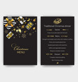 invitation card for a christmas party design vector image vector image