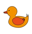 Isolated duck toy design vector image vector image