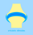Knee joint health care icon flat vector image
