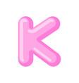 letter k candy font caramel alphabet lollipop vector image vector image