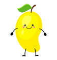 mango in flat style isolate vector image
