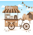 market cart take coffee with you vector image