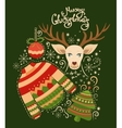 Merry Christmas collection of elements vector image vector image