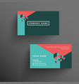 modern company business card template vector image