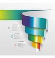Modern design from spiral banner vector image vector image