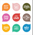 modern sale badges collection 9 vector image vector image