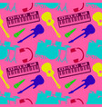 musical colors silhouettes musical instruments vector image vector image