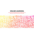 online learning concept vector image vector image