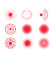 pain circles red painful target spot vector image