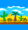 pixel art desert seamless background detailed vector image