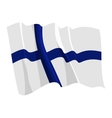 political waving flag of finland vector image vector image