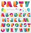 Polygonal style party typface vector image vector image