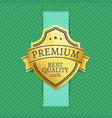 premium best 100 quality golden label on dashed vector image vector image