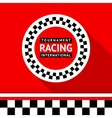 Racing badge 06 vector image vector image