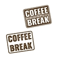 Realistic Coffee Break grunge rubber stamp vector image