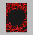 red random heart page background design - love vector image vector image