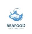 Seafood creative symbol vector image vector image