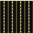 seamless pattern gold chain lines on black vector image vector image