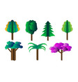 set of different cardboard trees vector image