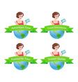 Set of Travel emblem vector image