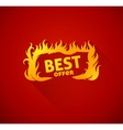 Sign best offer with burning vector image vector image