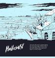 sketch of a spooky landscape vector image