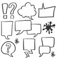 style speech bubble of set vector image vector image