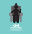 The King With His Throne vector image vector image