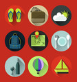 travel flat icon vector image vector image
