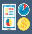 colorful set icon digital marketing vector image