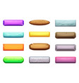 cartoon set of ui buttons template for vector image
