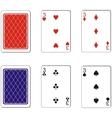 Playing card set 10 vector image