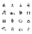 Spa Icons on White Background vector image