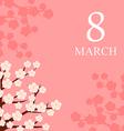 8 marta cherry vector image