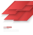 Abstract geometric shape from red vector image vector image