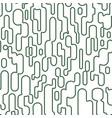 abstract opuncia cacti paths seamless pattern vector image vector image