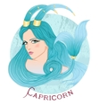 Astrological sign of Capricorn as a beautiful girl vector image vector image