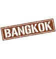 bangkok brown square stamp vector image