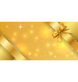 banner tied with a gold ribbon around edges vector image vector image