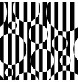 black and white striped circles vector image vector image