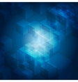Blue abstract tech geometric background
