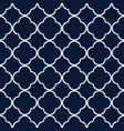 blue quatrefoil outline ornamental pattern vector image