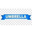 blue stripe with umbrella caption vector image vector image
